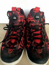 4c03c341ff43 Reebok ZPump Rise Basketball Sneaker Mens Size 9.5 Red Black Mid Top animal  prin