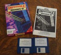 "Impossible Mission II EPYX  IBM PC Compatibles 5.25"" Media Big Box Computer Game"