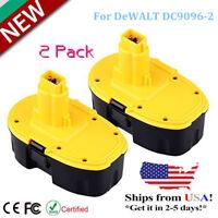 2 Pack 18 VOLT XRP NiCad Battery For DeWALT DC9096-2 DW9095 DE9095 DC9099 Tools
