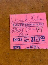1970 New York Knicks v Detroit Pistons Ticket Walt Frazier Dave Bing
