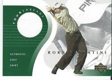 2001 Upper Deck PGA #TT-RS RORY SABBATINI Golf Tour Threads Shirt Relic