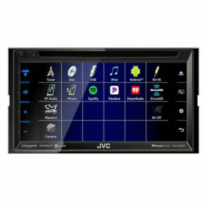 "JVC KW-V350BT Double DIN Bluetooth In-Dash CD/AM/FM/DVD 6.8"" Touchscreen"