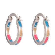 Rainbow Fire Opal 925 Silver Filled Hoop Dangle Ear Earring Wedding Jewelry