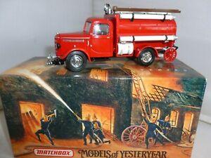 MATCHBOX DIECAST FIRE ENGINE YFE04 1939 BEDFORD TANKER