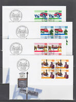 Switzerland Mi 1601/1622, 1997 issues, 6 complete sets in blocks of 4 on 15 FDCs