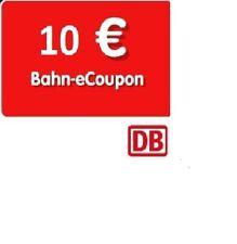 10 Euro Bahn eCoupon Gutschein Deutsche Bahn DB Coupon Rabatt DB Sofortversand