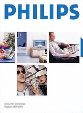 Philips Katalog 2003 2004 Consumer Electronics TV PC Home Entertainment Telefon