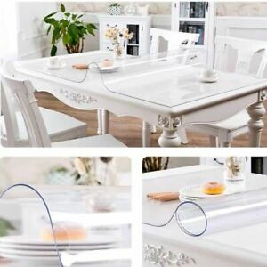 PVC Glass Table Cloth transparent Sheet Waterproof Vinyl Table Protected Covers