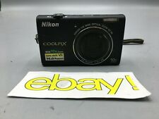 Nikon Coolpix S6200 16MP Black Compact Camera Free Shipping