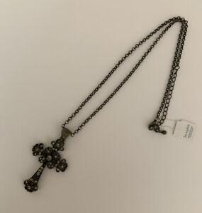 "New Lia Sophia Costume Fashion Jewelry Fresco Cross Pendant Necklace 19"" - 22"""