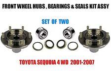 Toyota Sequoia 4WD Front Wheel Hubs, Bearings & Seals Kit Assy 2000-2006  PAIR