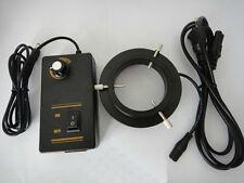 144-LED Adjustable Ring Light illuminator Lamp for Microscope 100-240V