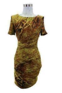 HALSTON HERITAGE CROSSOVER LAYERED DRESS. Sz 2-XS