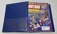 HOT ROD & CUSTOM MAGAZINE LOT OF 9 ISSUES JUN 1988- FEB 1989 PLUS BLUE BINDER