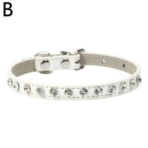 Bling Rhinestone Pet Dog Cat Collar Crystal Necklace Adjustable Small Medium Dog