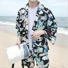 Women Men Japanese Kimono Coat Jacket Panda Harajuku Loose Yukata Outwear Casual