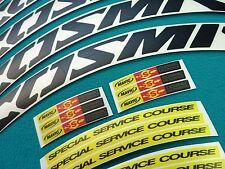 "MAVIC COSMIC CARBONE ULTIMATE BLACK ""SPECIAL SERVICE COURSE""  RIM DECAL SET"