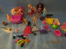 Lot Polly Pocket Disney Princess Dolls Gowns Accessories