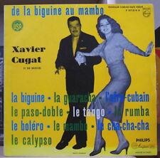 """XAVIER CUGAT ET SON ORCHESTRE """"DE LA BIGUINE AU MAMBO"""" 25 cm FRENCH LP PHILIPS"""