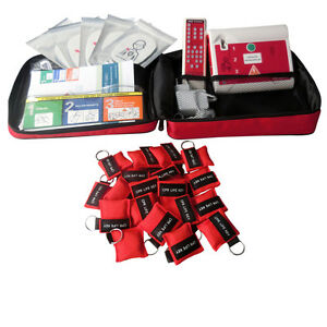 AED Simulator Device AED Trainer +100 pcs CPR Face Masks For First Aid Training