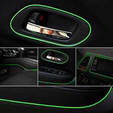 5m Green Car Interior Accessories Point Edge Gap Line Molding Decal Garnish