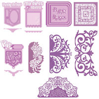 Pocket Lace Borders Cutting dies Stencil Templates Scrapbooking Embossing Album