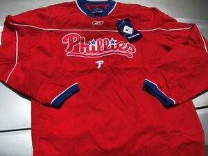 Philadelphia Phillies Leadoff Pullover Jacket Adult Small Blow Out Pricing MLB