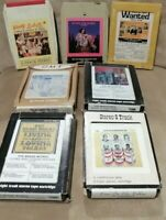 Vintage Mixed Lot Of 7 # 8 Track Tapes Cartridges Polkas, Donna Summer and more