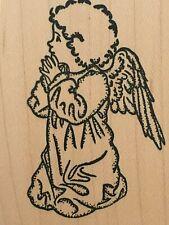 JudiKins Praying Angel Religious Card Making Paper Craft Mounted Rubber Stamp
