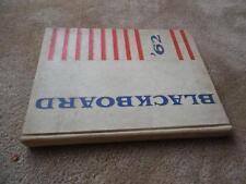 Vintage 1962 Yonkers High School NY New York Yearbook Blackboard
