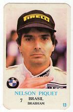 1986 Portugese TASCA Calendario F1 BRASILIANO BRABHAM TEAM PILOTA Nelson Piquet