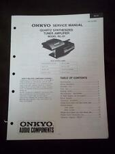 Onkyo Service Manual for the RU-D1 Tuner Amplifier ~ System Component TU-D1