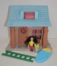Fisher Price Loving Family Camping Cabin Girl Lantern Ladder Sleeping Bag Lot