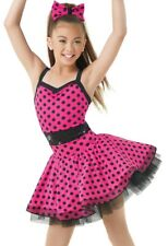 NWT SHOWCASE FIGURE SKATING POLKADOT DANCE DRESS PK SZ CXS CS CI CM CL CXXL