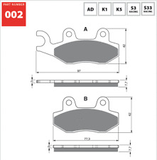 Rear / Right Sintered Brake Pads Fits CAN-AM 800R Commander 2011 upwards SF7