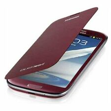 Samsung Galaxy Note 2 Flip Cover Case Wine Red