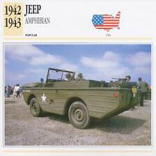 1942-1943 FORD GPA JEEP AMPHIBIAN Classic Car Photograph / Information Maxi Card