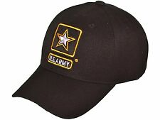 US Army Logo Military Baseball Hats Black Cap Embroidered Baseball Cap