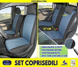 Coprisedili Fiat Panda 169 Fodere 2003>2011 Set Foderine Cotone Tessuto auto per