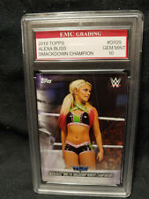 HOT! SEXY DIVA!  ALEXA BLISS 2019  WWE RAW CARD EMC GRADED 10 MINT