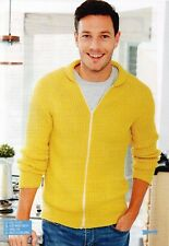 ~ Knitting Patterns For Cute Cosy Cat Bed & Man's Zip-Front Jacket ~ See Pics ~