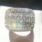 925 Silver Rings For Women Luxury Jewelry Cubic Zirconia Wedding Rings Size 6-10