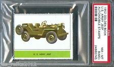 1952 Golden Book Automobile Stamps U.S. ARMY JEEP Near Mint-Mint PSA 8 mc