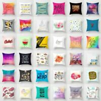Polyester Creative Art Pillow Case Sofa Waist Throw Cushion Cover Home Decor