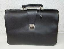 Aktentasche / Aktenkoffer - Leder schwarz - abschließbar - mit Schlüssel - NEU