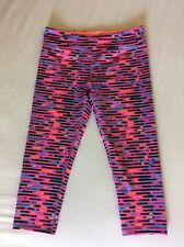 Ivivva Rhythmic Crop Pink Purple Black Blue Size 14 Lululemon Sz 4