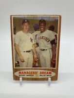 1962 Topps Managers' Dream - Mickey Mantle & Willie Mays