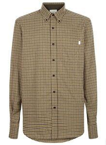 """Le Chameau LCM11 Swinbrook Shirt Beige Check Shirt Men's Size 16.5"""" #H65"""