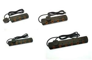 Switched Neon Surge Protected 3/4/5/6 Way Extension Lead Gang 5M