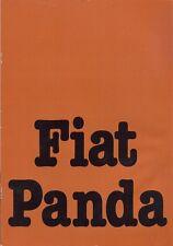 FIAT PANDA 903cc 1980 Mercato olandese BROCHURE a colori di vendita